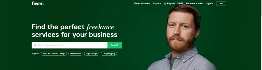 Fiverr, plateforme pour freelances