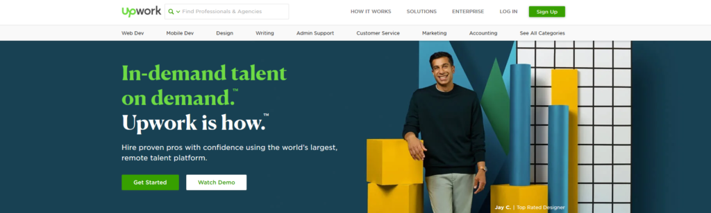 Upwork, plateforme pour freelances