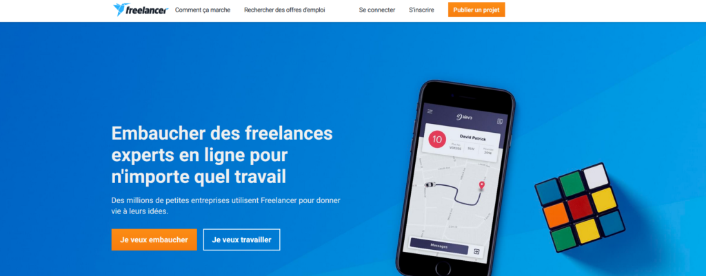 Freelancer, plateforme pour freelances