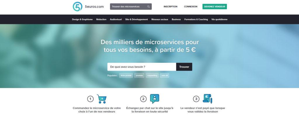 5euros.com, plateforme pour freelances