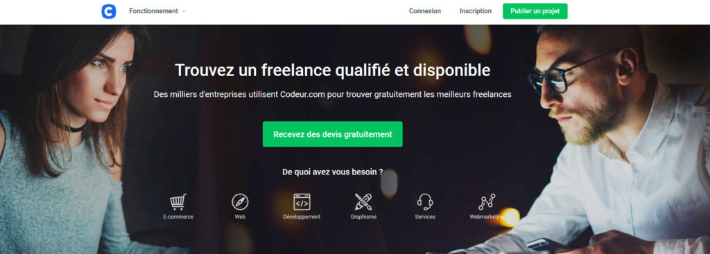 Codeur.com, plateforme pour freelance