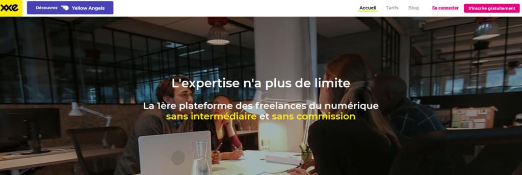XXE, plateforme pour freelance
