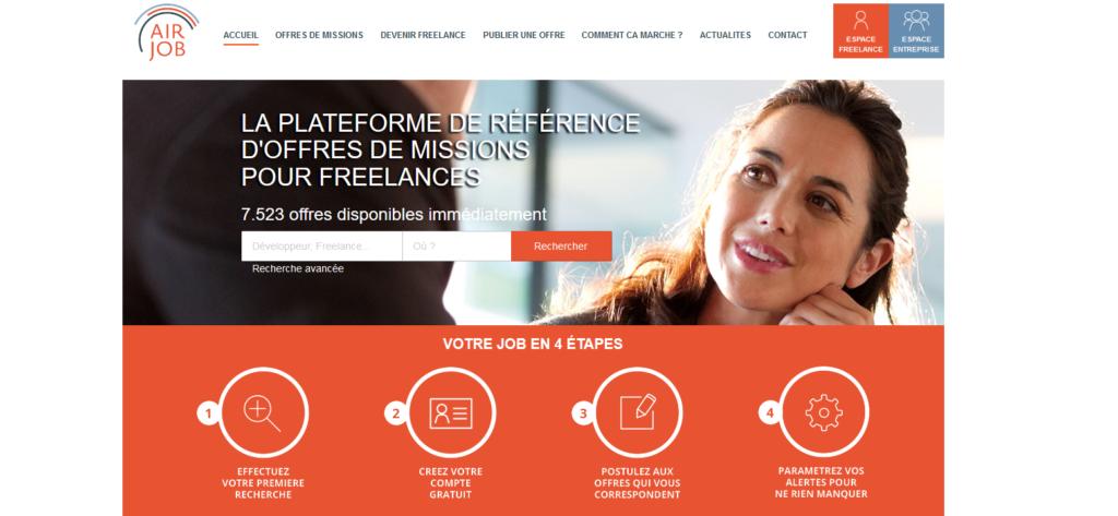 Airjob, plateforme pour freelance