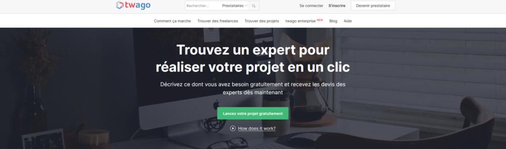 Twago, plateforme pour freelance