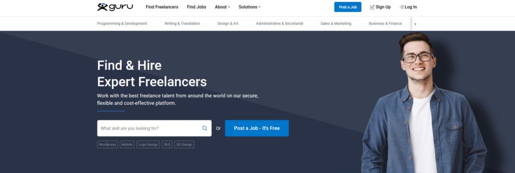 Guru, plateforme pour freelance