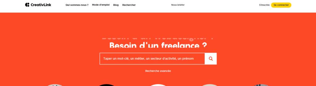 Creativlink, plateforme pour freelance