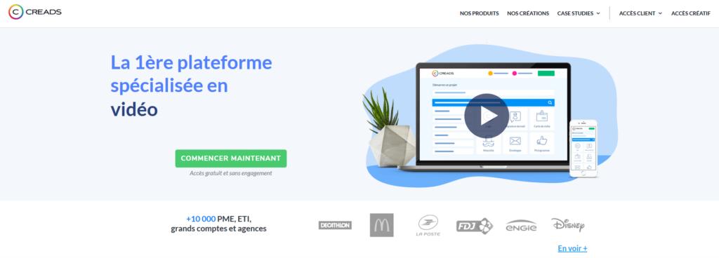 Creads, plateforme pour freelance