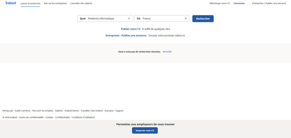 Indeed, plateforme pour freelance