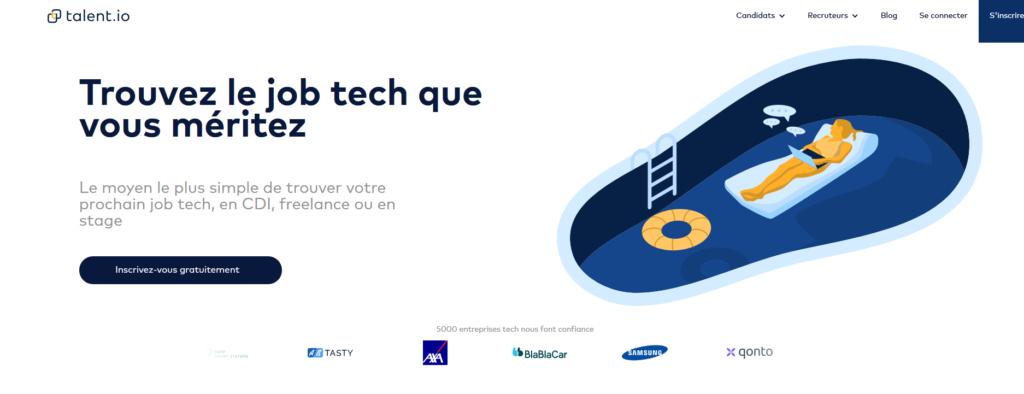 Talent.io, plateforme pour freelance