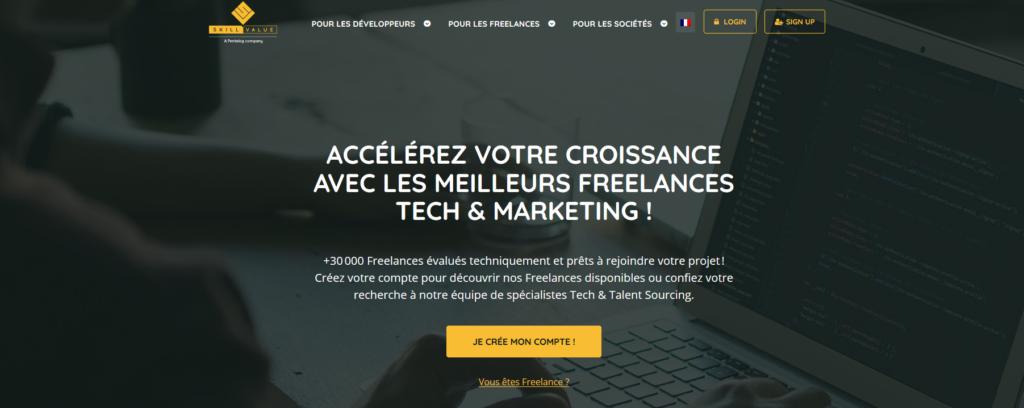 Skillvalue, plateforme pour freelance