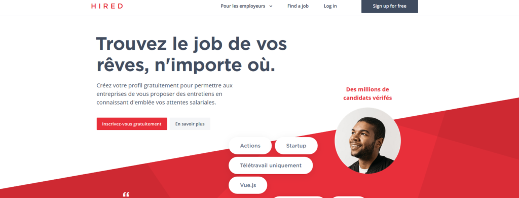 Hired, plateforme pour freelance