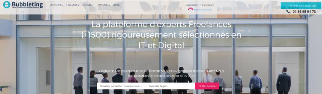 Bubbleting, plateforme pour freelance