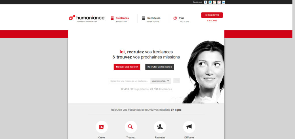 Humaniance, plateforme pour freelance