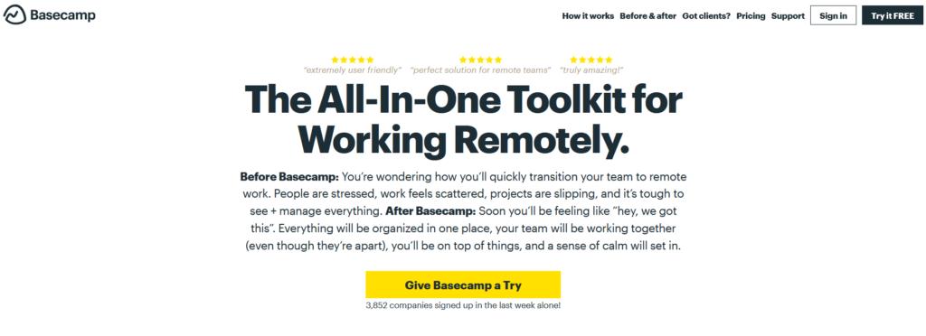 Basecamp, logiciel, outil, consultant
