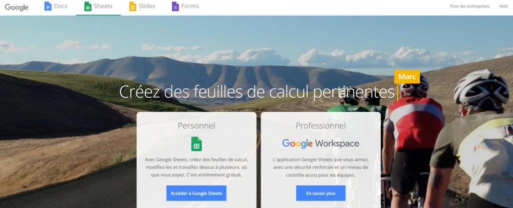 Google Sheets, logiciel, outil, consultant